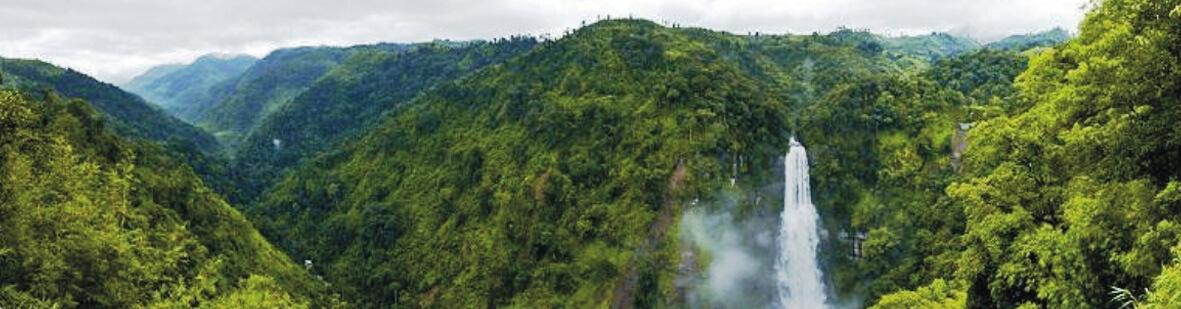 Vantawang Falls in Mizoram, India