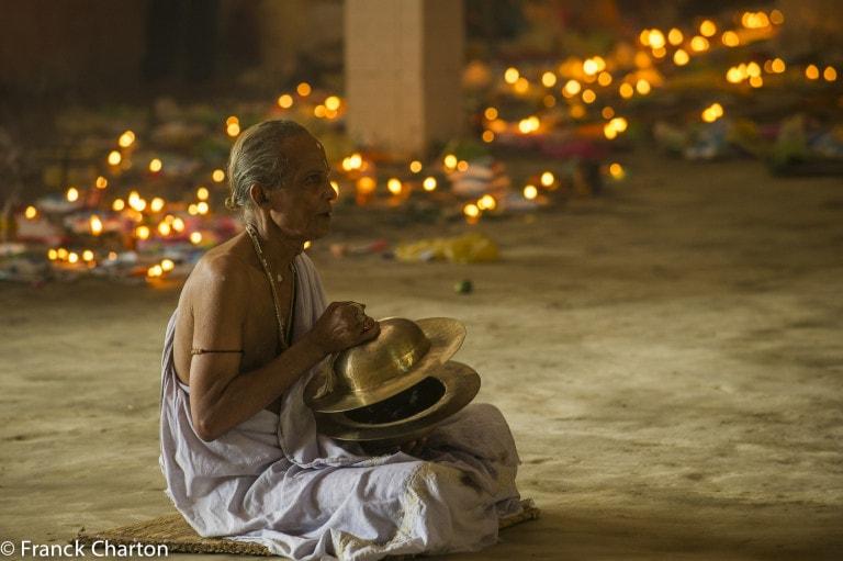 Prayer during Raas Mahotsav Festival, Majuli Island