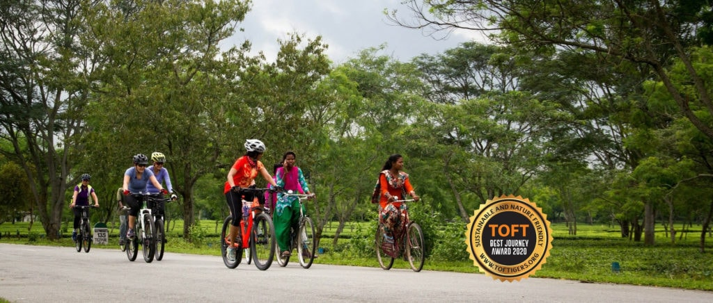 Group Cycling in Kaziranga National Park - Best Journey Award 2020 by Toftigers