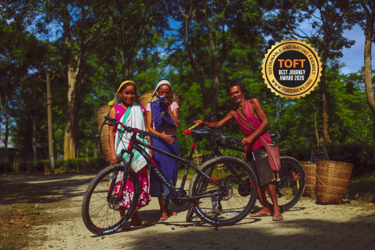 Cycling with locals in Kaziranga National Park